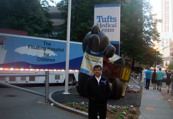 Dr. Vikram at Tufts Medical Center in Boston,  USA